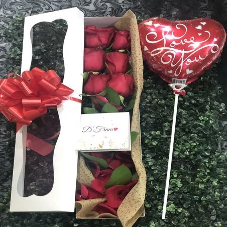 Caja de Rosas X 6