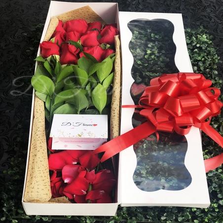 Caja de Rosas Por 12