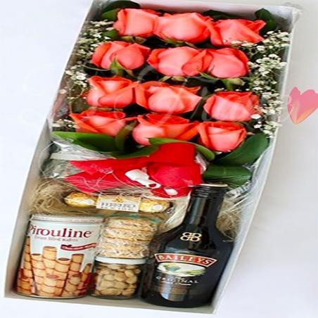 Caja De Rosas Regalo Perfecto