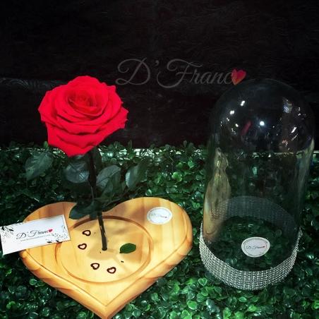 Rosa Preservada en Base de Corazón