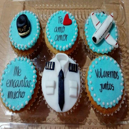 Cupcakes de Piloto
