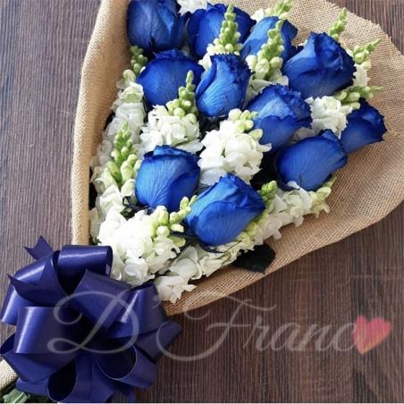 Bouquet de Rosas Azules