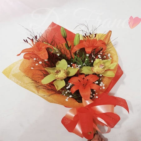 Bouquet de Orquídeas y Lirios