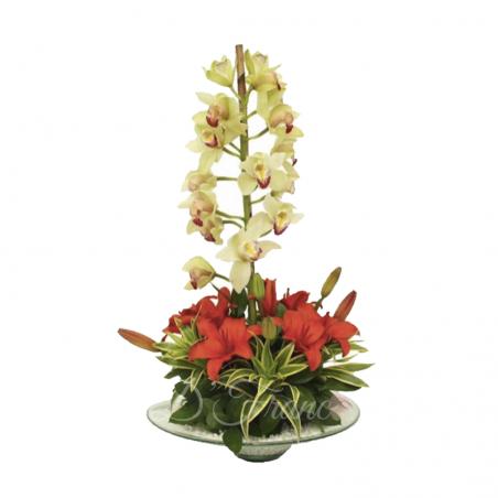 Arreglo Floral Con Orquídea