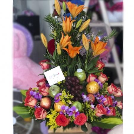Flores Con Frutas Cumpleaños Cali