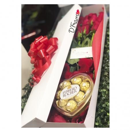 Caja de Rosas Amor y Amistad