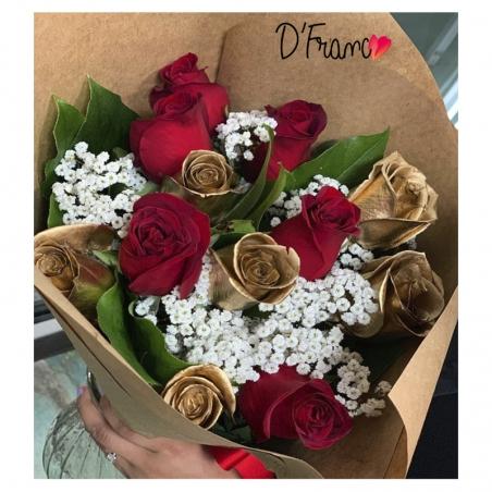 Bouquet Rosas Amor y Amistad
