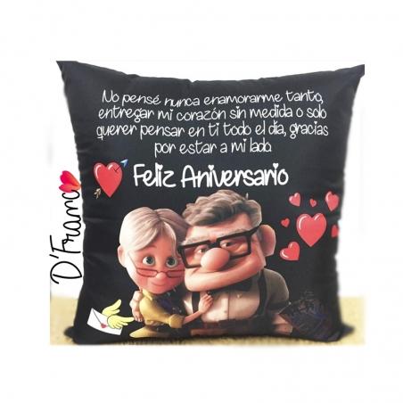 Cojín  Abuelitos personalizado Aniversario Up