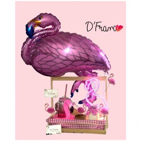 Desayuno Sorpresa Flamingo Globo