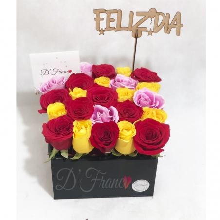Caja de rosas Alegria