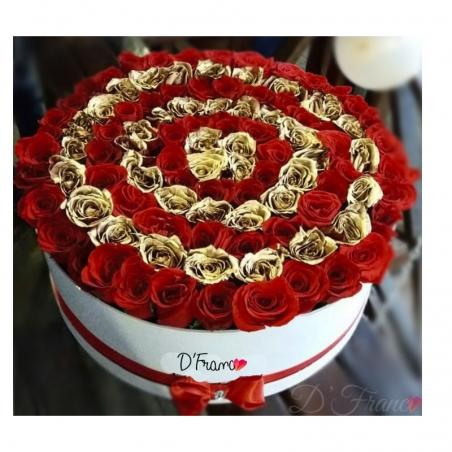 Caja Rosas Gold Premium