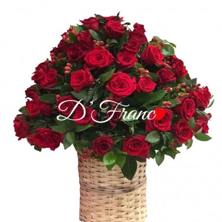 Canasta de Rosas Rojas Cali