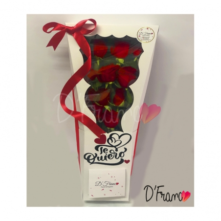 Caja bouquet Dia de la Mujer Cali