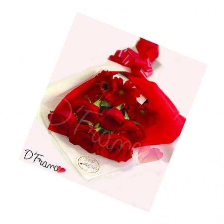 Bouquet rosas Y gerberas Cali