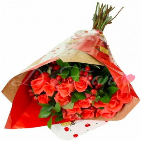 Bouquet de Rosas Salmon
